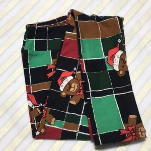 NWT Holiday LuLaRoe Kids' L/XL Leggings Teddy Bear